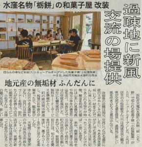 2015年9月7日 静岡新聞掲載記事