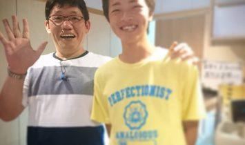 ずん飯尾さんと記念撮影。飯尾さんはめっちゃいい人でした!